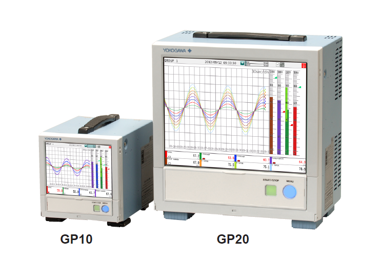 Yokogawa paperless recorder data logger/paperless chart recorder GP10/GP20