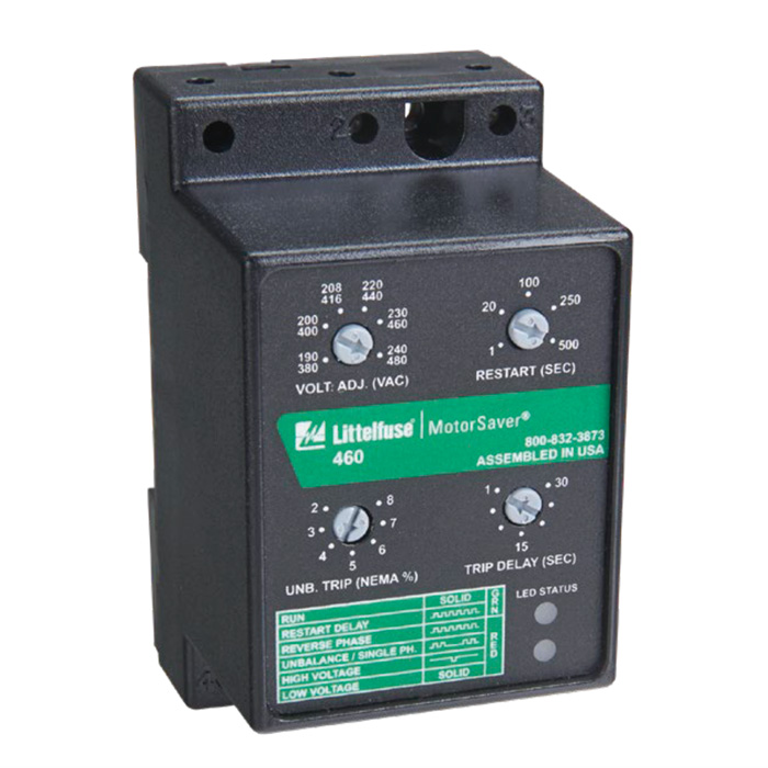 Littelfuse 460-575 3-Phase Voltage Monitor Protection Relays and Controls Voltage Monitoring Relays 460 Voltage Monitor