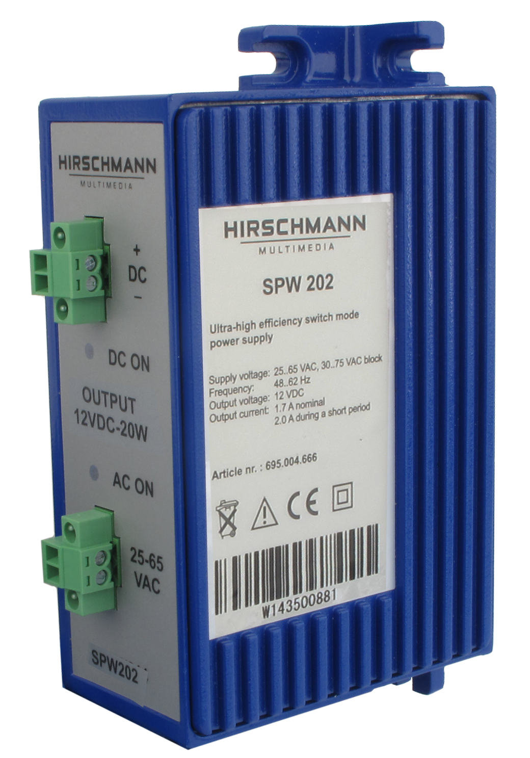 Hirschmann SPW202 Article number 695004666 switch mode power supply